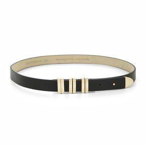 BCBG Black Gold Color Faux Leather Belt
